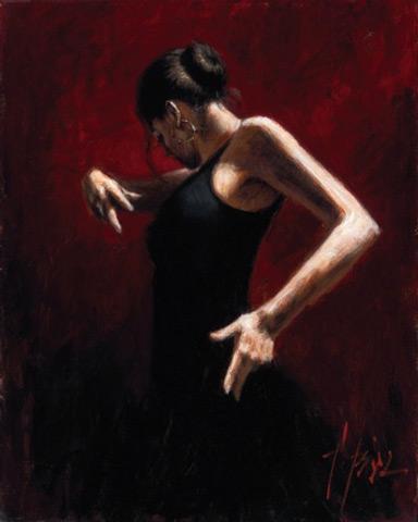 el-baile-del-flamenco-en-rojo-fabian-perez